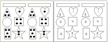 Shape and Counting (0-5) Book and Partner Game!