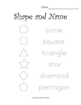 Shape and Name Trace