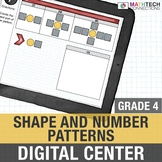 Shape and Number Patterns  - 4th Grade Digital Math Center