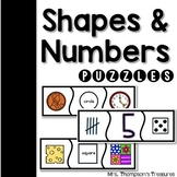 Shape and Number Matching Puzzles