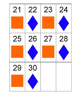 Shape and Pattern Calendar-September