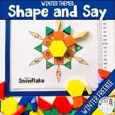 Shape and Say Articulation: Winter Theme Free