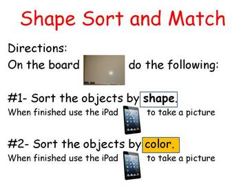 Shape and Sort Match