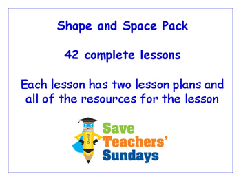 Shape and Space Lessons Bundle/Pack (42 Lessons for 2nd to