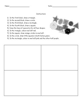 Shape and Symmetry Worksheet