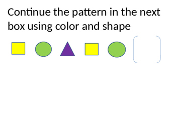 Shape and color patterns