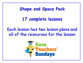 Shape and space Lessons Bundle / Pack (17 Lessons for 1st