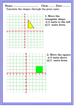 Shape and space worksheet