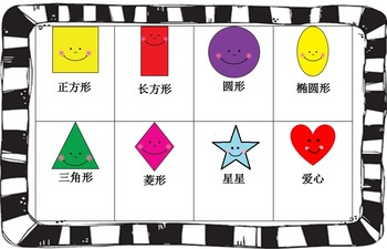 Mandarin Chinese Shape board game Chinese version