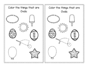Shape book about Ovals