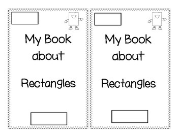 Shape book about Rectangles