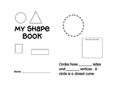Shape book...identify sides, vertices and right angles