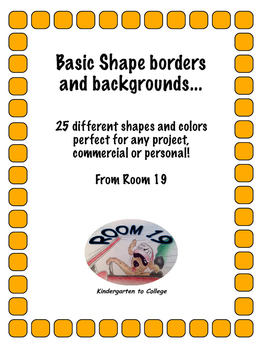 Shape borders and backgrounds