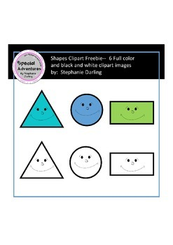 Shape clipart FREEBIE color and black/white images comericial and personal use