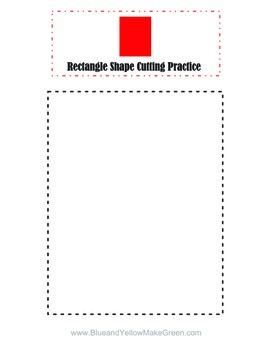 Shape cutting practice