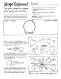 Shape explosion - beginning perspective drawing activity