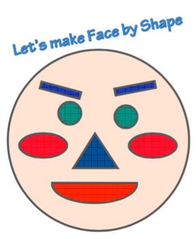 Shape face color