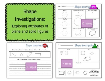 Shape investigations: exploring attributes of plane and solid figures