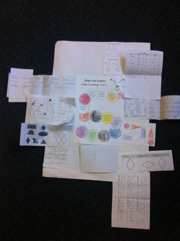 Shape, location self assessment (learning worm + assesssment templates)