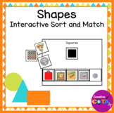 Shape match and Sort with Everyday Objects Interactive Book