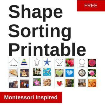Shape matching printable Montessori Inspired cards