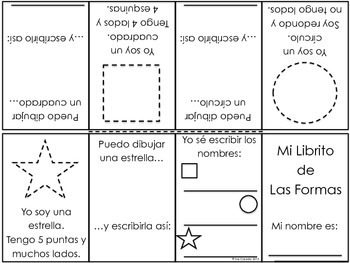 Shape mini books (Spanish Version)