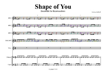 Shape of You for Boomwackers