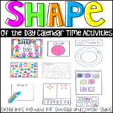 Shape of the Day Calendar Activities and Companion (Preschool and Kindergarten)