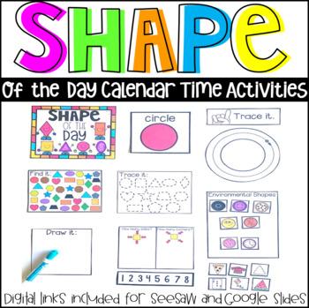 Shape of the Day Calendar Activities and Companion (Preschool and Kindergarten)