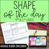 2-D Shape of the Day - with Digital 2-D Shapes Review for Distance Learning