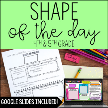Shape of the Day for Upper Grades {Common Core Aligned}