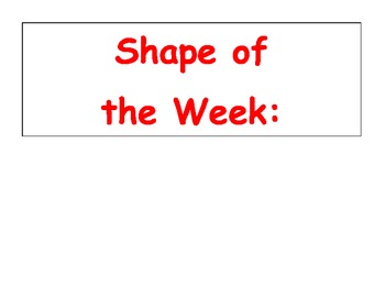 Shape of the Week Signs