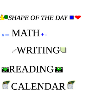 Shape of the day visuals