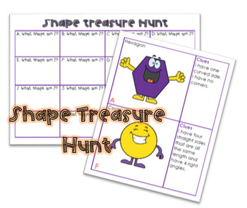 Shape properties treasure hunt