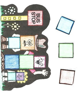 Shape recognition square and rectangle File Folder Game