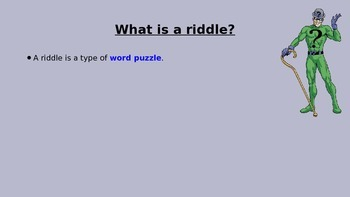 Shape riddles