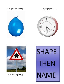 Shape then Label Object Flashcards or booklet for Autism