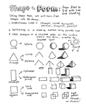 Shape to Form: drawing from flat to 3-D
