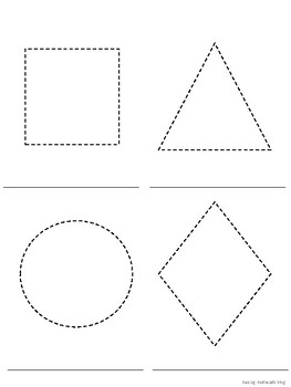 Shape trace and word practice for preschoolers