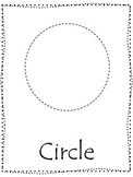 Shape tracing.  Trace the Circle Shape.  Preschool printable curriculum.