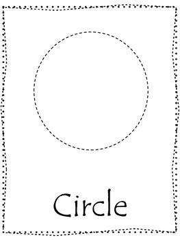 Shape tracing.  Trace the Circle Shape.  Preschool printable curriculum.