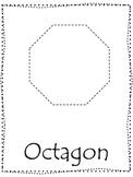Shape tracing.  Trace the Octagon Shape.  Preschool printable curriculum.