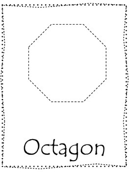 shape tracing trace the octagon shape preschool printable curriculum. Black Bedroom Furniture Sets. Home Design Ideas