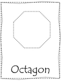 Shape tracing.  Trace the Octagon Shape.  Preschool printable curriculum.