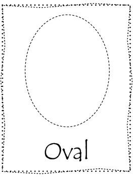 Shape tracing.  Trace the Oval Shape.  Preschool printable curriculum.