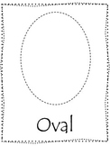 Shape tracing.  Trace the Oval Shape.  Preschool printable curriculum.