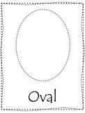 Shape tracing.  Trace the Oval Shape.  Preschool printable