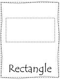Shape tracing.  Trace the Rectangle Shape.  Preschool printable curriculum.