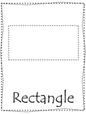 Shape tracing.  Trace the Rectangle Shape.  Preschool printable curriculum.