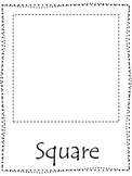 Shape tracing.  Trace the Square Shape.  Preschool printable curriculum.